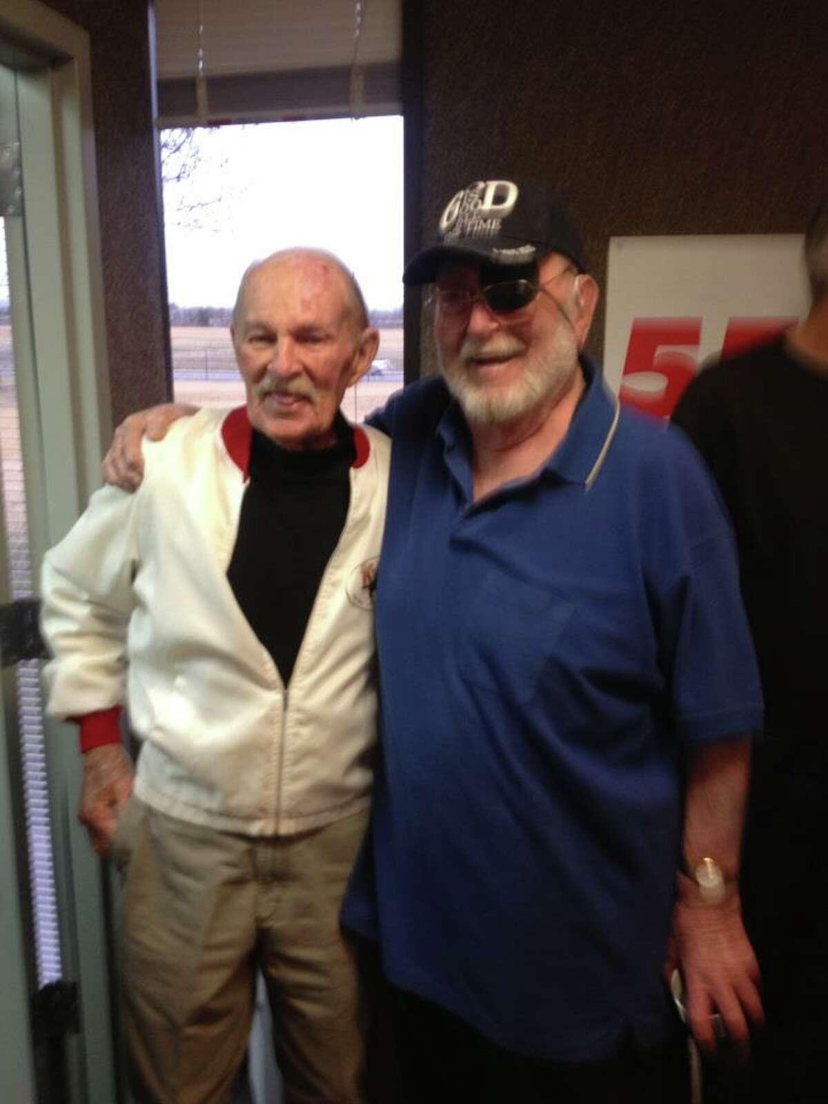 Ricci Ware and Jud Ashmore on Ware's last day at KTSA.