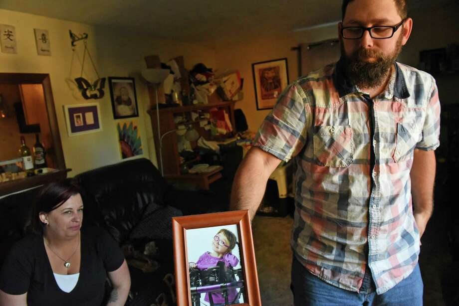 Jessica and Kevin Lourinia talk about their daughter Piper Sofia Lourinia, who they lost at 7-years-old to Sudden Unexpected Death in Epilepsy on January 17, 2016,  at their home Wednesday Oct. 19, 2016 in Albany , N.Y.  (Michael P. Farrell/Times Union) Photo: Michael P. Farrell / 20038464A