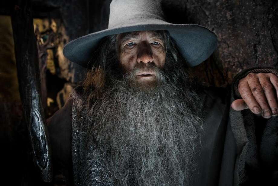 "This image released by Warner Bros. Pictures shows Ian McKellen in a scene from ""The Hobbit: The Desolation of Smaug."" The film directed by Peter Jackson is expected to top the last weekend of Hollywood's record year at the box-office. (AP Photo/Warner Bros. Pictures, Mark Pokorny)"
