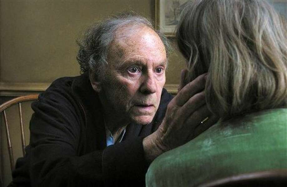 "FILE - This undated file film image released by Sony Pictures Classics shows Jean-Louis Trintignant in a scene from the Austrian film, ""Amour."" On Sunday, Dec. 9, 2012, the Los Angeles Film Critics Association announced their picks for movies of 2012. The French old-age drama ""Amour"" was chosen as the year's best film. The 1950s cult drama ""The Master"" earned three awards: best director for Paul Thomas Anderson, best actor for Joaquin Phoenix and supporting actress for Amy Adams. ""The Master"" also was chosen as best-picture runner-up. ""Amour"" star Emmanuelle Riva shared the best-actress honor in a tie with Jennifer Lawrence for the lost-soul romance ""Silver Linings Playbook."" Newcomer Dwight Henry was chosen as supporting actor for the low-budget critical darling ""Beasts of the Southern Wild."" (AP Photo/Sony Pictures Classics, File)"