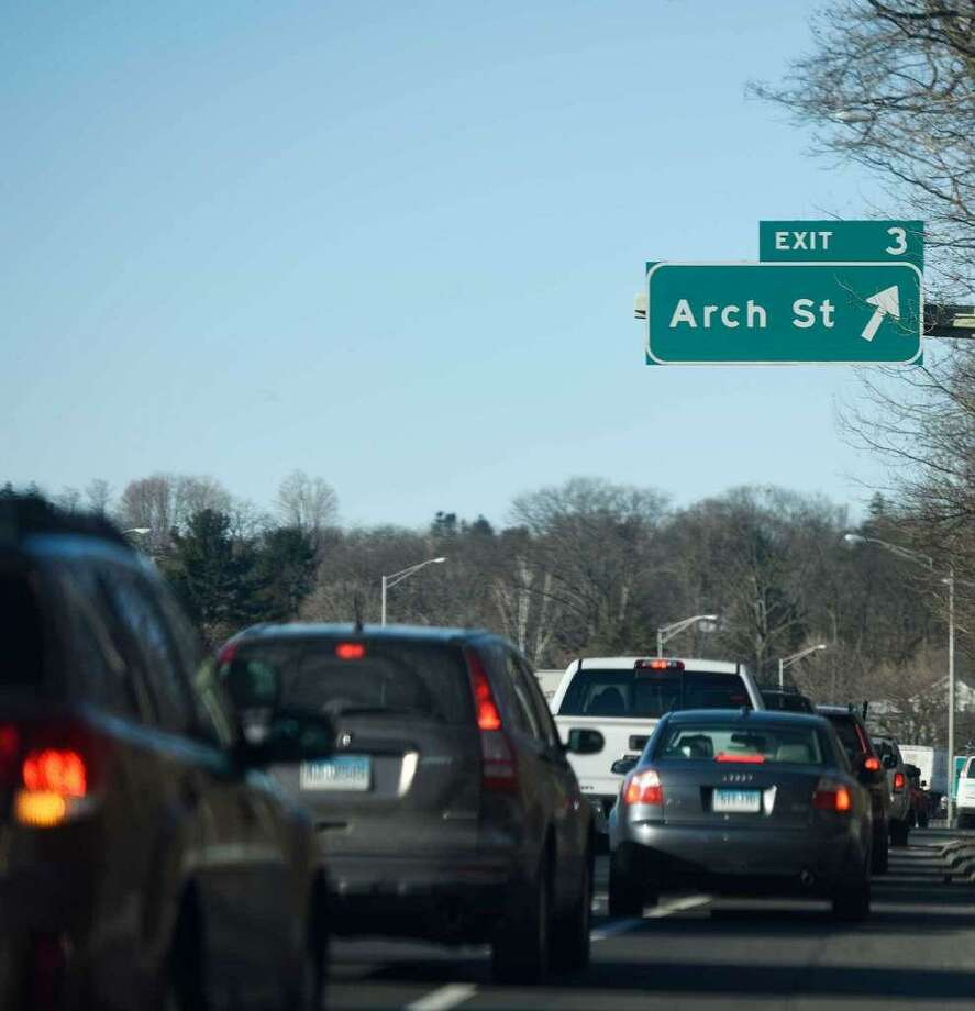 Design plans for new traffic signals off exit 3 on I-95 in Greenwich, a perennial trouble spot for commuters, are currently being reviewed by state engineers. Photo: / Tyler Sizemore / Hearst Connecticut Media