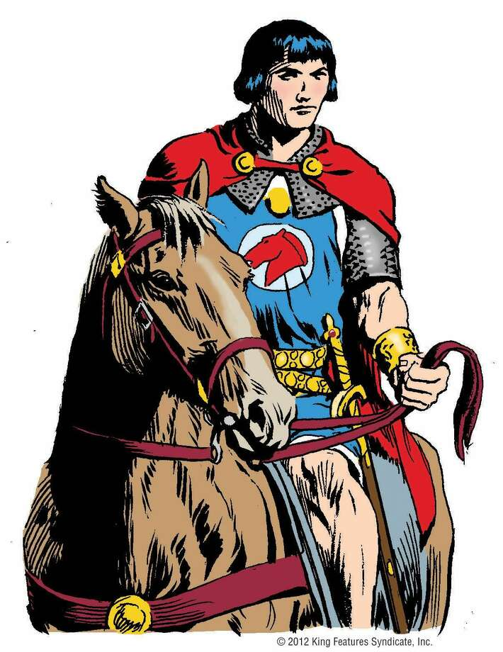 """In this publicity photo provided by King Features Syndicate, artist Thomas Yeates' drawing of """"Prince Valiant"""" is shown. The 75th anniversary of the historical adventure comic strip """"Prince Valiant"""" will be saluted at a Friday, July 13, 2012, Comic-Con panel featuring the comic's current writer and artists. (AP Photo/King Features Syndicate)"""