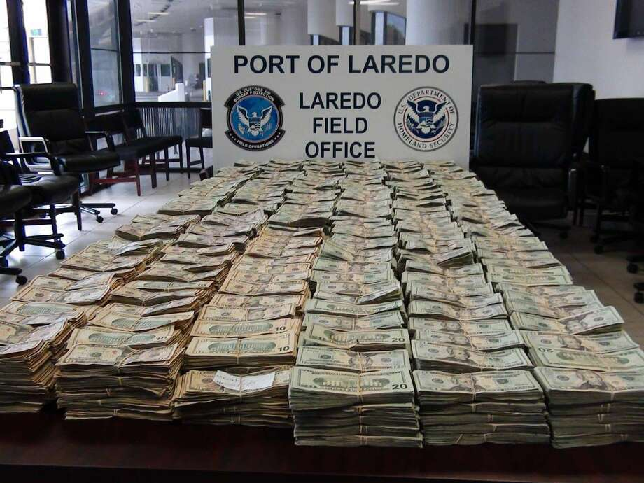 Shown is more than $2 million in unreported currency seized by U.S. Customs and Border Protection officers and agents at Laredo Port of Entry on Sunday at the Lincoln-Juarez Bridge. It's the biggest cash seizure this year, and the biggest since March 2009, when $3 million was seized from a commercial passenger bus.(Courtesy photo)