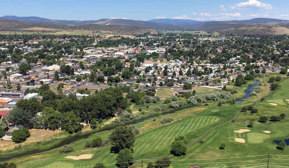This July 1, 2016 photo shows downtown Prineville, Ore. The county has put a $10 million proposal on the November ballot to build a new jail. But such measures are unpopular among voters. (AP Photo/Andrew Selsky)