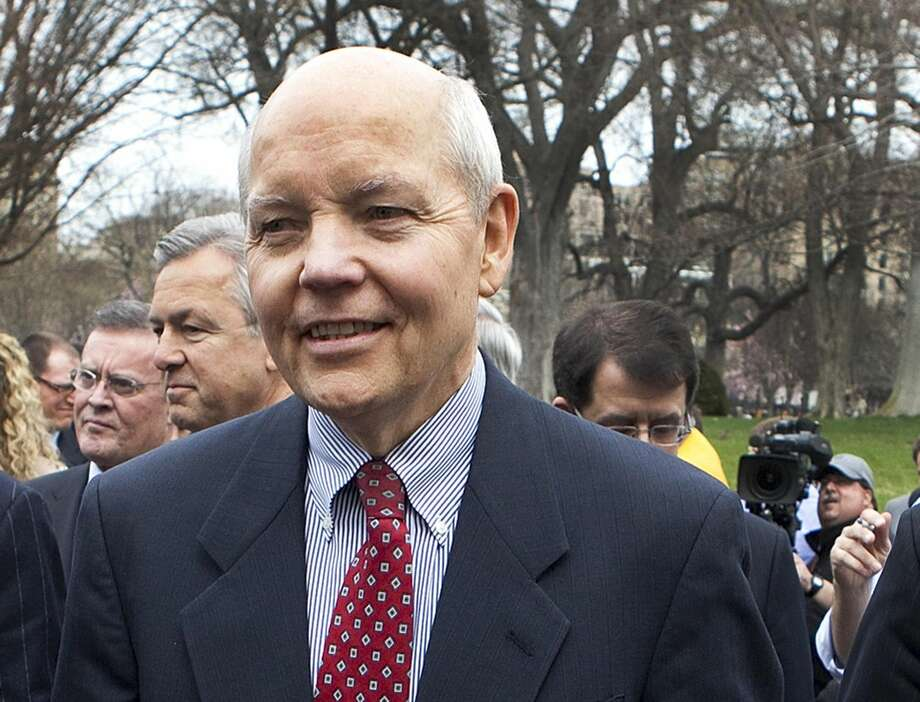 In this March 27, 2009, file photo, John Koskinen is seen outside the White House in Washington. President Barack Obama has nominated Koskinen as Internal Revenue Service (IRS) commissioner. (AP Photo/Ron Edmonds, File)
