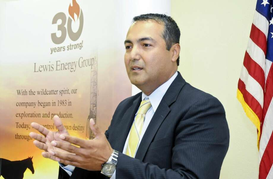 Michael Garcia, human resources director for Lewis Energy, announces the upcoming Lewis Energy Group Job Fair, which takes place Wednesday, from 9 a.m to 4p.m., at Workforce Solution for South Texas, 2389 E. Saunders St. (Photo by Ulysses S. Romero/Laredo Morning Times)