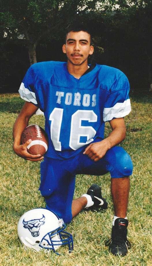 Marcos Joel Aranda is seen suited up for the Cigarroa Toros. (Courtesy photo)