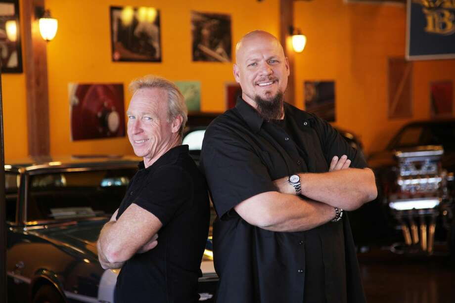 """This publicity image released by CNBC shows Perry Barndt, left, and Jeff Allen from """"The Car Chasers,"""" a reality series premiering Tuesday, March 5 at 10 p.m. EST on CNBC. (AP Photo/NBC, Kevin Lynch)"""