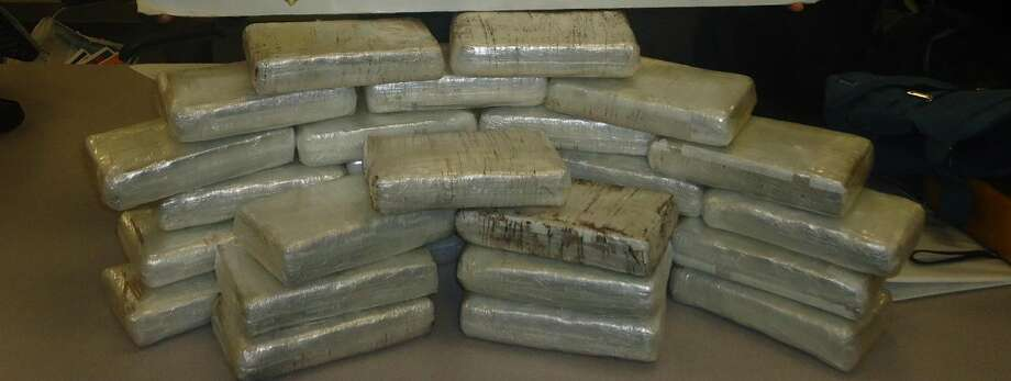 $2,220,000 dollars worth of cocaine was seized March 9 at the I-35 North Border Patrol checkpoint during a secondary vehicle inspection. Agents found 28 bundles of the cocaine wrapped in cellophane and hidden under the driver and passenger floorboards. The illegal drug weighed 69.4 pounds. (Courtesy photo)