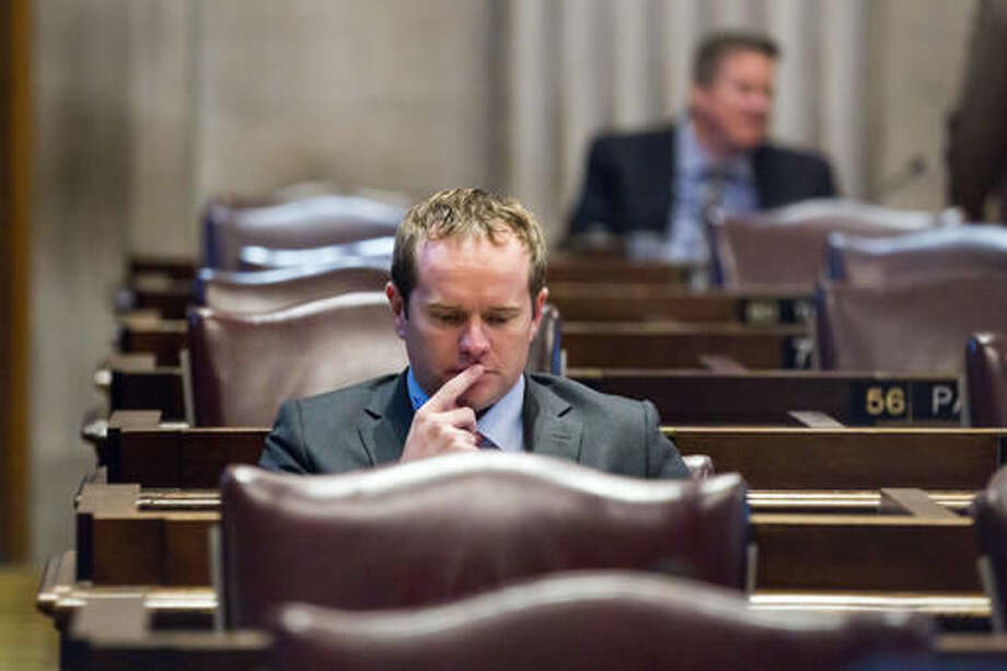 Rep. Jeremy Durham, R-Franklin, attends a House floor session in Nashville, Tenn., on Tuesday, Sept. 13, 2016. Tennessee lawmakers are planning to vote on a bid to oust Durham following an attorney general's investigation that detailed allegations of improper sexual contact with at least 22 women over the course of his four years in office. (AP Photo/Erik Schelzig)
