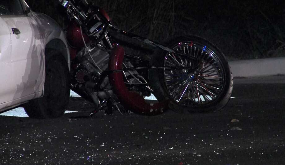 One man was transported to University Hospital in serious condition after his motorcycle crashed with another vehicle on the Northwest Side Saturday morning, Oct. 22, 2016.