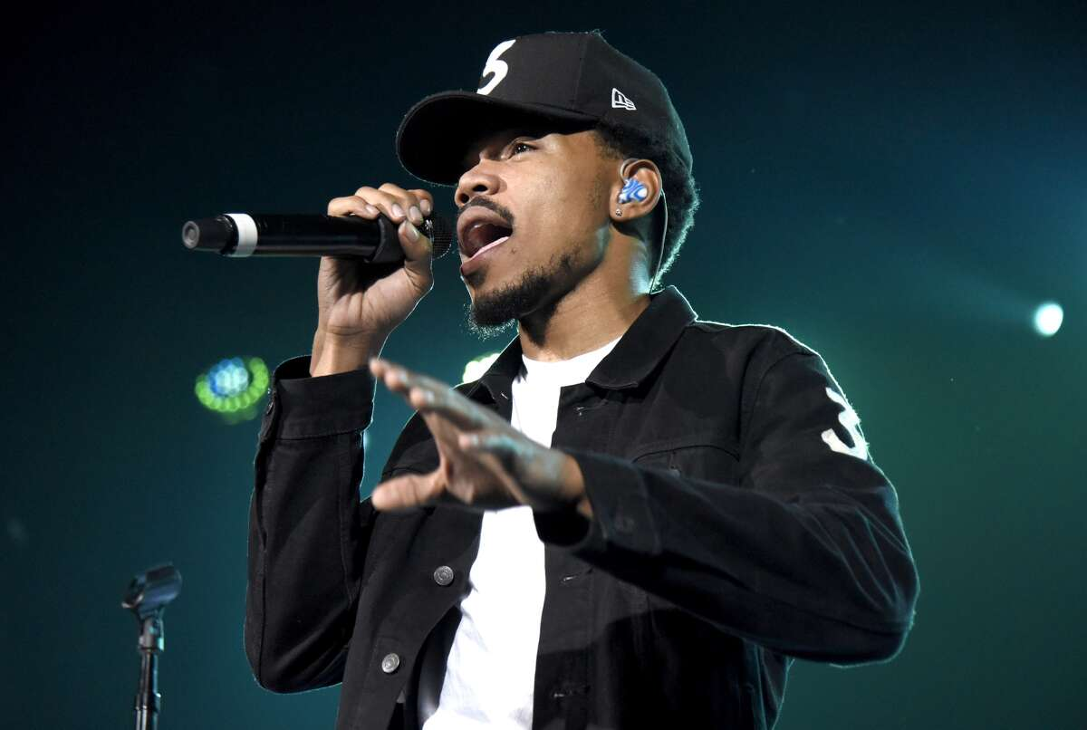 SAN FRANCISCO, CA - OCTOBER 21: Chance the Rapper performs during his 'Magnificent Coloring World Tour' at the Bill Graham Civic Auditorium on October 21, 2016 in San Francisco, California.