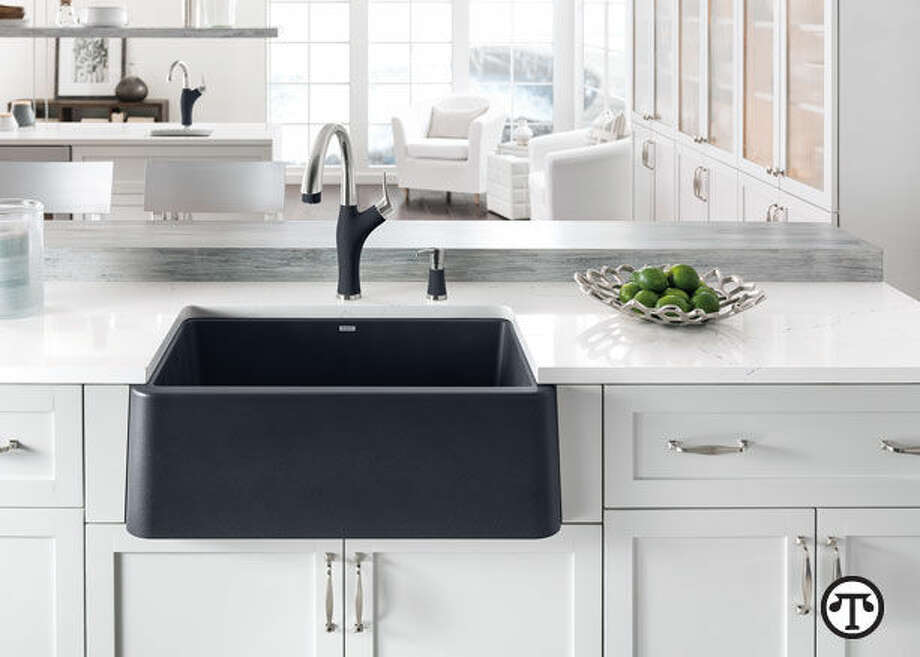 An apron front sink is comfortable and convenient to use, in keeping with the trend toward clever kitchen gadgets and appliances. (NAPS)