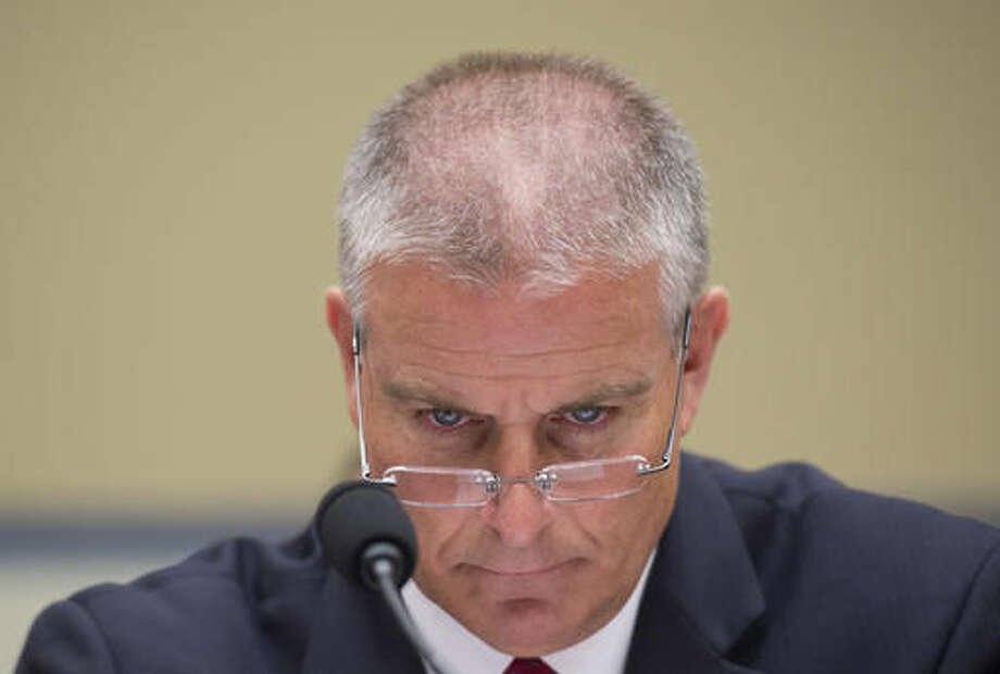 FEMA Regional Administrator Tony Robinson listens to opening statements prior to testifying on Capitol Hill in Washington, Friday, Sept. 9, 2016, before the House Oversight and Government Reform subcommittee on Transportation and Public Assets hearing on FEMA's response to the flooding in Baton Rouge, La. (AP Photo/Molly Riley)