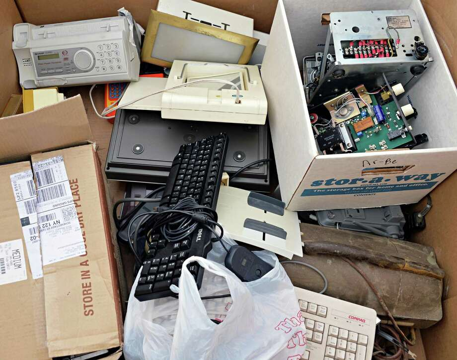 Electronics, mercury-filled items and other hazardous waste.Do not place these at curbside for disposal. The Department of General Services has drop off events for safe disposal of these items. See the event dates here.This includes things like gasoline, spray paint, lawn care products, ant bait or traps, swimming pool chemicals, lead or acid batteries. Full list here. Photo: John Carl D'Annibale / 10022002A