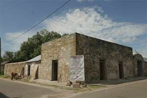 The first structure on the TreviÒo-Uribe Ranch fort was built in 1830 in San Ygnacio and has survived largely intact as a rare example of Spanish colonial architecture. It is now being restored by local artisans. Wednesday, Sept. 15, 2016. (Billy Calzada/San Antonio Express-News via AP)