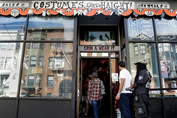 1of 3customers enter costumes on haight as the presidential campaign sparks costume ideas for halloweenphoto gabriella angotti jones the chronicle