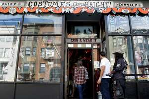 Customers enter Costumes On Haight near Pierce and Haight streets on Saturday, Oct. 22, 2016 in San Francisco, Calif.