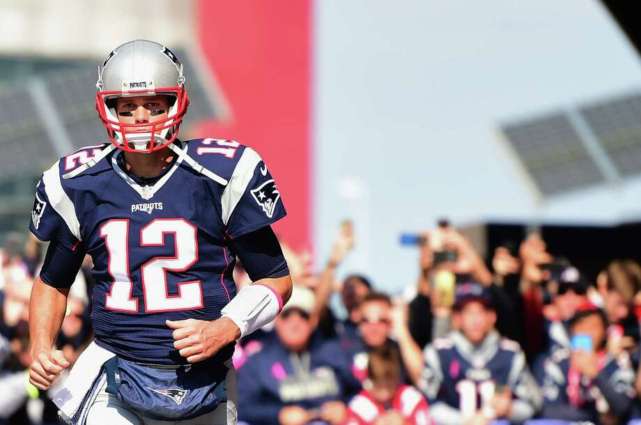 FOXBORO, MA - OCTOBER 16:  Tom Brady #12 of the New England Patriots takes the field before a game against the Cincinnati Bengals at Gillette Stadium on October 16, 2016 in Foxboro, Massachusetts.  (Photo by Billie Weiss/Getty Images) ORG XMIT: 663669911 Photo: Billie Weiss / 2016 Getty Images