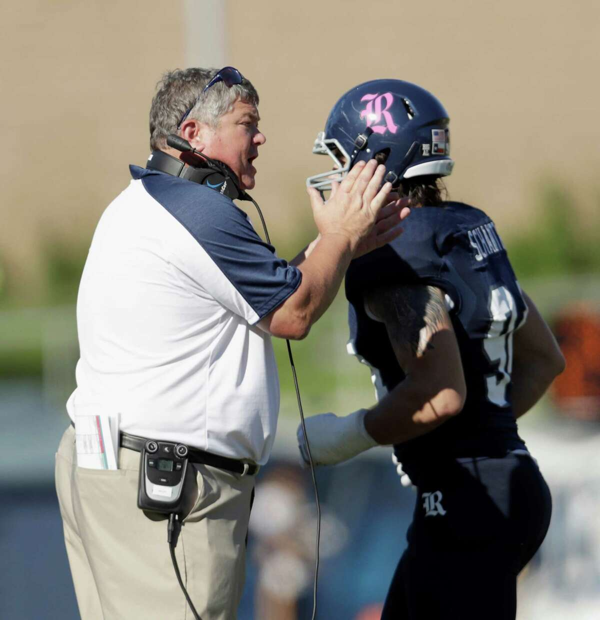 Rice Owls head coach David Bailiff in the first half during the NCAA football game between the Prairie View A&M Panthers and the Rice Owls at Rice Stadium in Houston, TX on Saturday, October 22, 2016. The Owls defeated the Panthers 65-44.