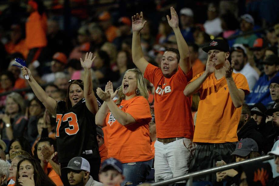 UTPB fans cheer after a touchdown against Oklahoma Panhandle State on Saturday, Oct. 22, 2016, at Grande Communications Stadium. James Durbin/Reporter-Telegram Photo: James Durbin