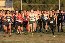 The Varsity Boys 3 Mile run gets underway during the District 28-6A cross country meet at Brandeis High School on Saturday, Oct. 22, 2016.  MARVIN PFEIFFER/ mpfeiffer@express-news.net