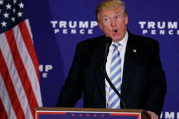 Republican presidential candidate Donald Trump delivers a speech during a campaign event, Saturday, Oct. 22, 2016, in Gettysburg, Pa. (AP Photo/ Evan Vucci)