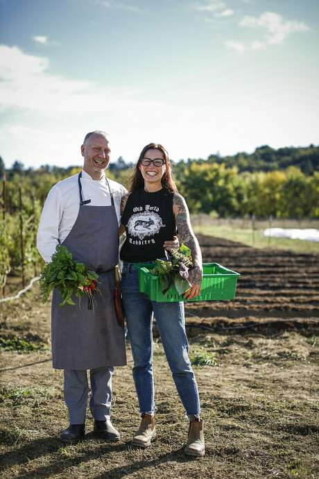Kyle and Katina Connaughton at Single Thread Farm in Healdsburg. Photo: Russell Yip, The Chronicle