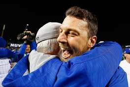 CHICAGO, IL - OCTOBER 22:  Ben Zobrist #18 of the Chicago Cubs celebrates after defeating the Los Angeles Dodgers 5-0 in game six of the National League Championship Series to advance to the World Series against the Cleveland Indians at Wrigley Field on October 22, 2016 in Chicago, Illinois.  (Photo by Jamie Squire/Getty Images)
