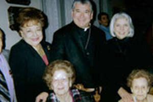 Pictured in this undated file photo are, top row, from left, Al and Isa Chapa, Diocese of Laredo Bishop James Tamayo and state Sen. Judith Zaffirini. Zaffirini's aunts, Josefina Alexander Gonzalez and the late Delfina Alexander Gonzalez, are pictured in the bottom row.