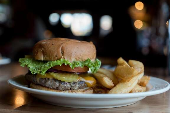 The Mike Buckhorn Washoe Burger is seen at the Washoe House in Petaluma, Calif. on Thursday, Oct. 20, 2016. The Washoe House was built in 1859.