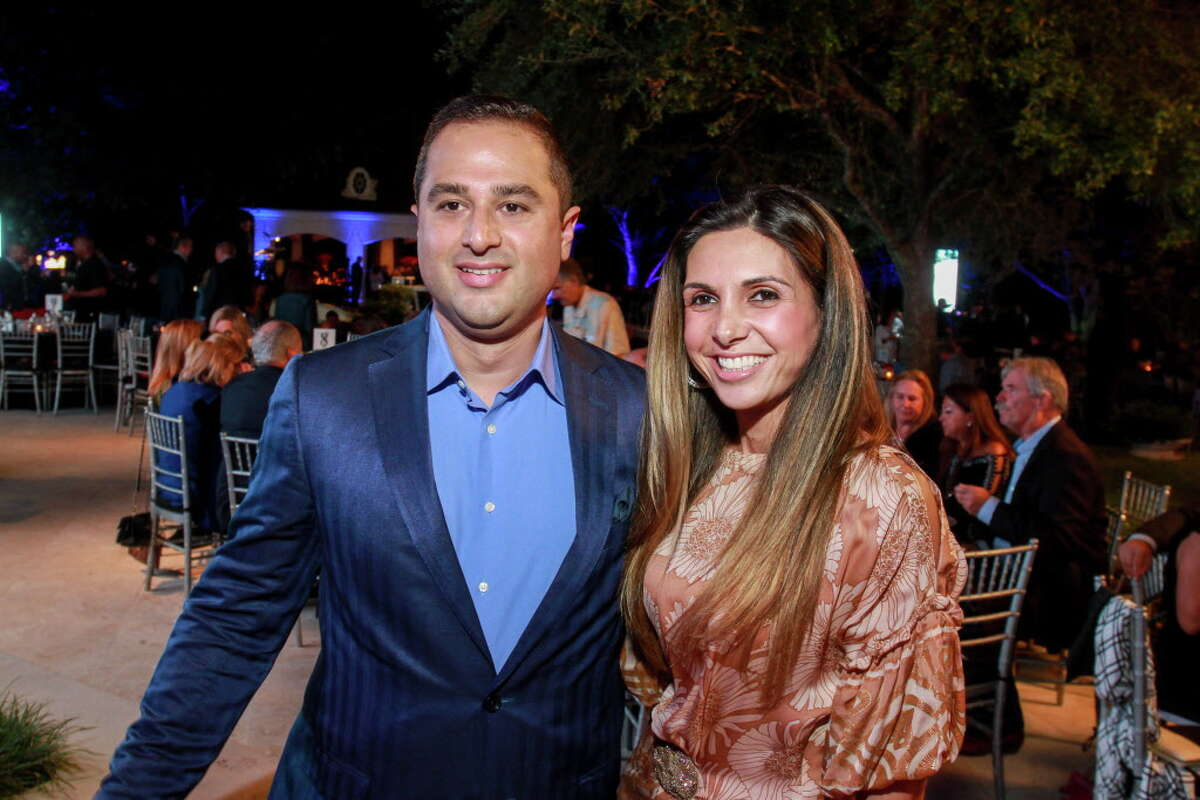 Alan and Anooshea Taghdisi at the True Blue gala. (For the Chronicle/Gary Fountain, October 22, 2016)