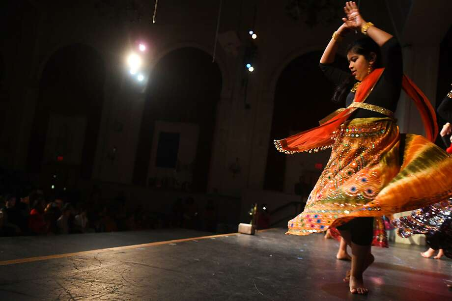 Ishita Sujan, 12, performs with Team RDX on Friday. Photo: Keelin Daly / For Hearst Connecticut Media / Stamford Advocate freelance