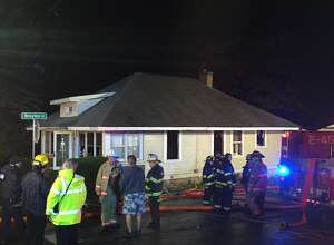 Firefighters respond to a fire at Osborne Road in Colonie Saturday Oct. 22, 2016 (Bethany Bump / Times Union)