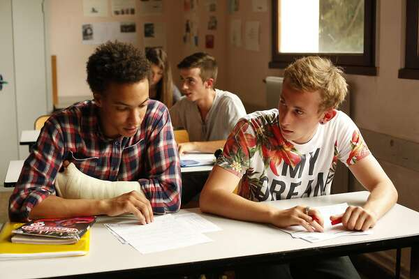 """Corentin Fila as Thomas and Kacey Mottet Klein as Damien in the movie """"Being 17"""" directed by Andre Techine. (Strand Releasing/TNS)"""