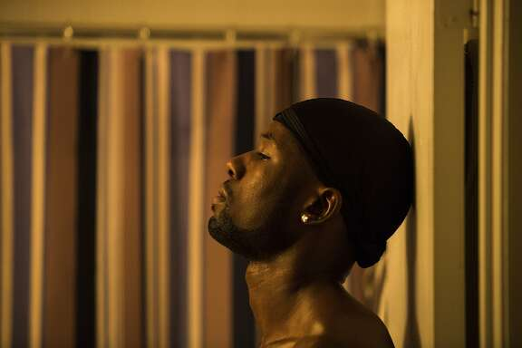 """In this image released by A24 Films, Trevante Rhodes appears in a scene from, """"Moonlight."""" (David Bornfriend/A24 via AP)"""