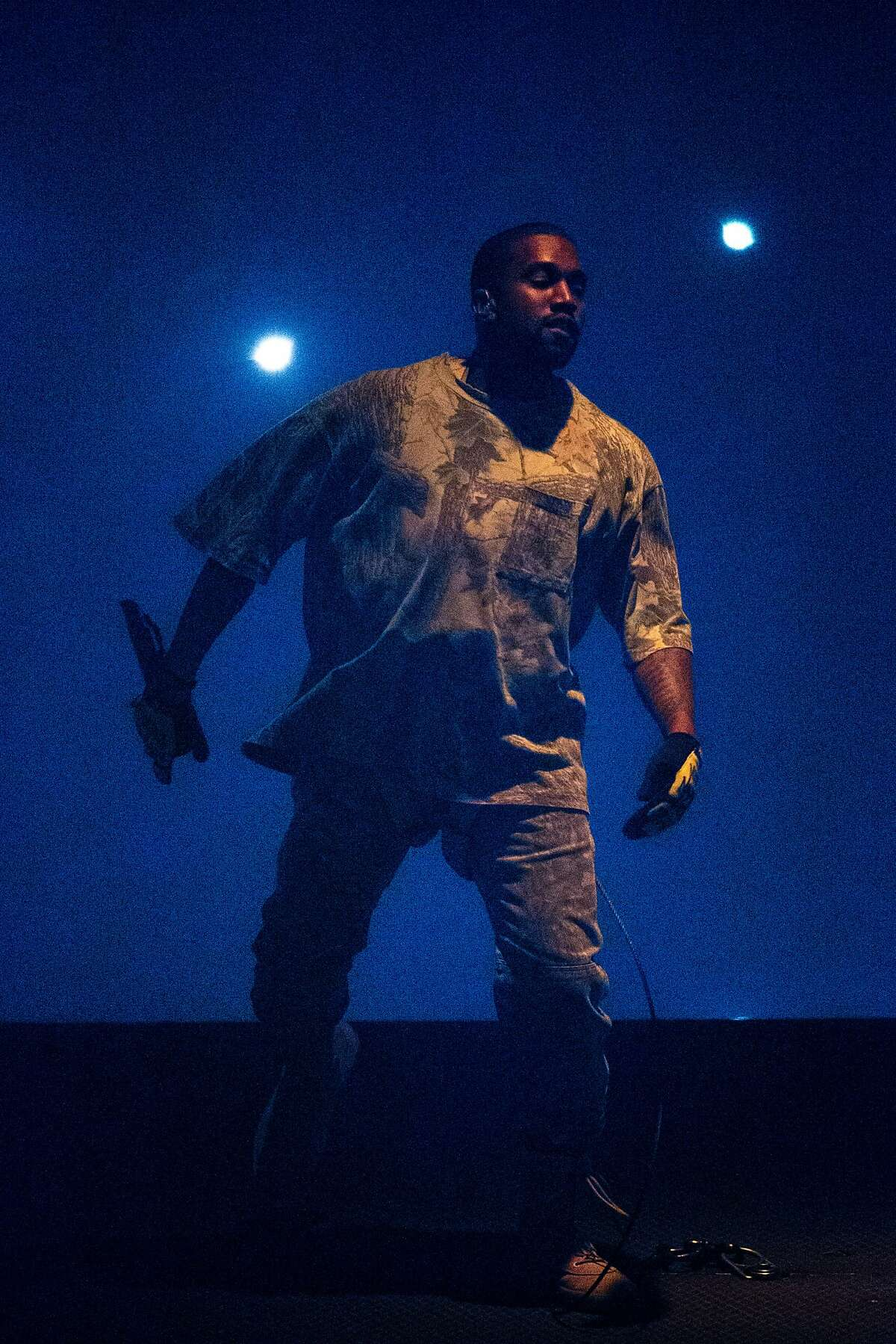 Kanye West performs during his Saint Pablo Tour at the Oracle Arena on Saturday, Oct. 22, 2016 in Oakland, Calif.