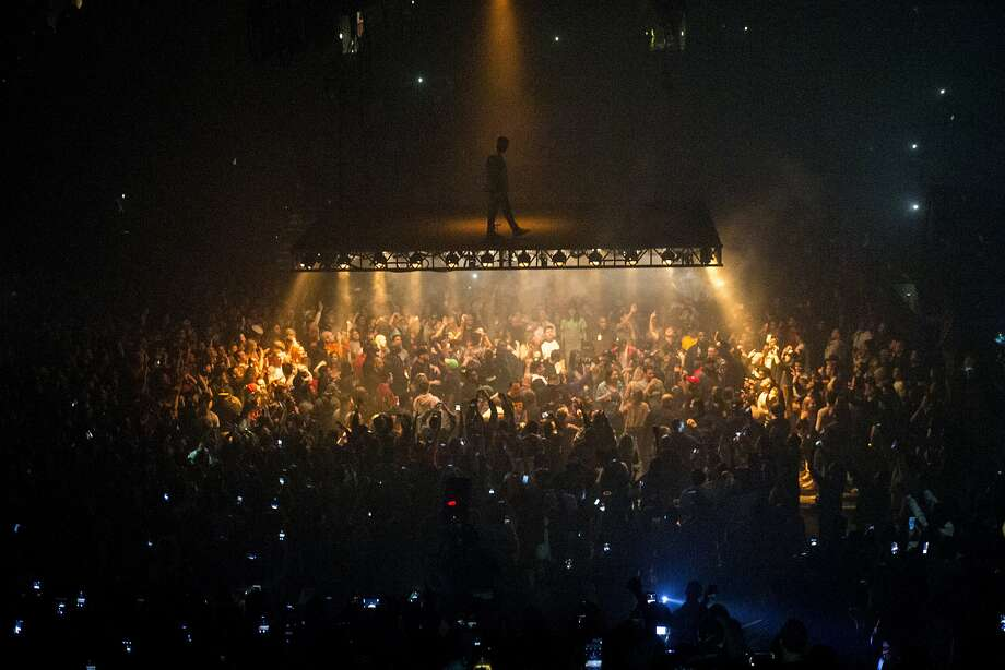 Kanye West performs during his Saint Pablo Tour at Oakland's Oracle Arena on Oct. 22. Photo: Santiago Mejia, The Chronicle