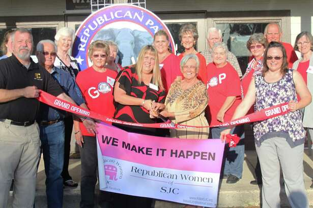 The San Jacinto County Chamber of Commerce welcomes the Republican Women of San Jacinto County into their membership, commemorating the occasion with a ribbon cutting ceremony on Oct. 18 at the San Jacinto County Republican Party headquarters.