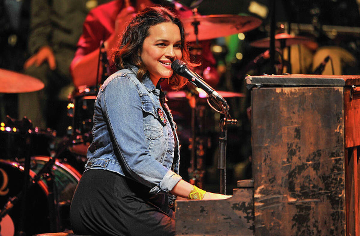 Norah Jones performs at the 30th Annual Bridge School Benefit concert on Day 1 at Shoreline Amphitheatre on October 22, 2016 in Mountain View, California.