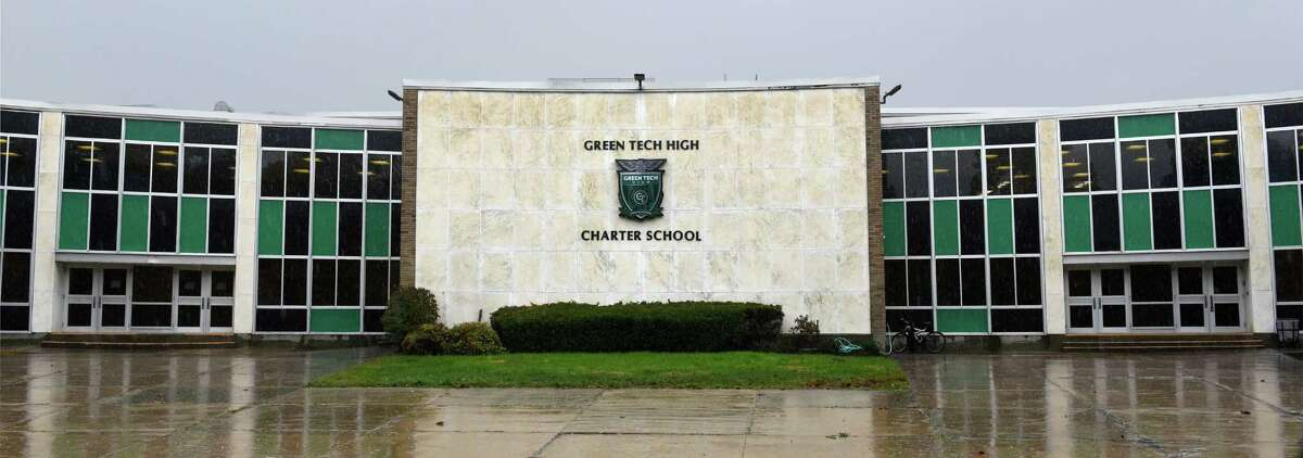 Exterior of Green Tech High Charter School's new facilities at the former Bishop Maginn High Thursday Oct. 20, 2016 in Albany, NY. (John Carl D'Annibale / Times Union)