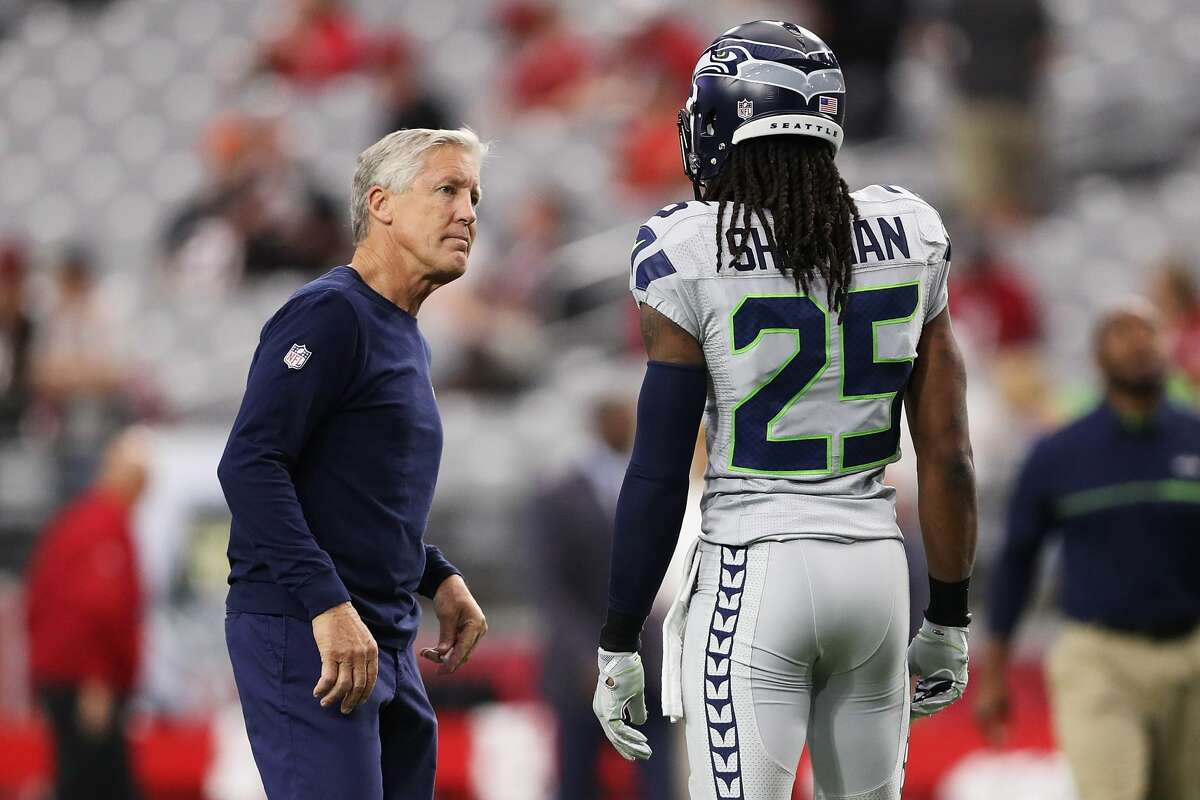 Oct. 18, 2016: Seahawks coach Pete Carroll doesn't express any discontent with Sherman's sideline eruption, instead calling it a learning experience: