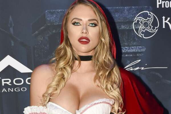 Model Antje Utgaard arrives at The 2016 MAXIM Halloween Party, produced by Karma International, where guests sipped on CÎROC Mango, Tequila Don Julio Blanco and Don Julio 1942 cocktails, at The Shrine Auditorium on Saturday, October 22nd, 2016 in Los Angeles.