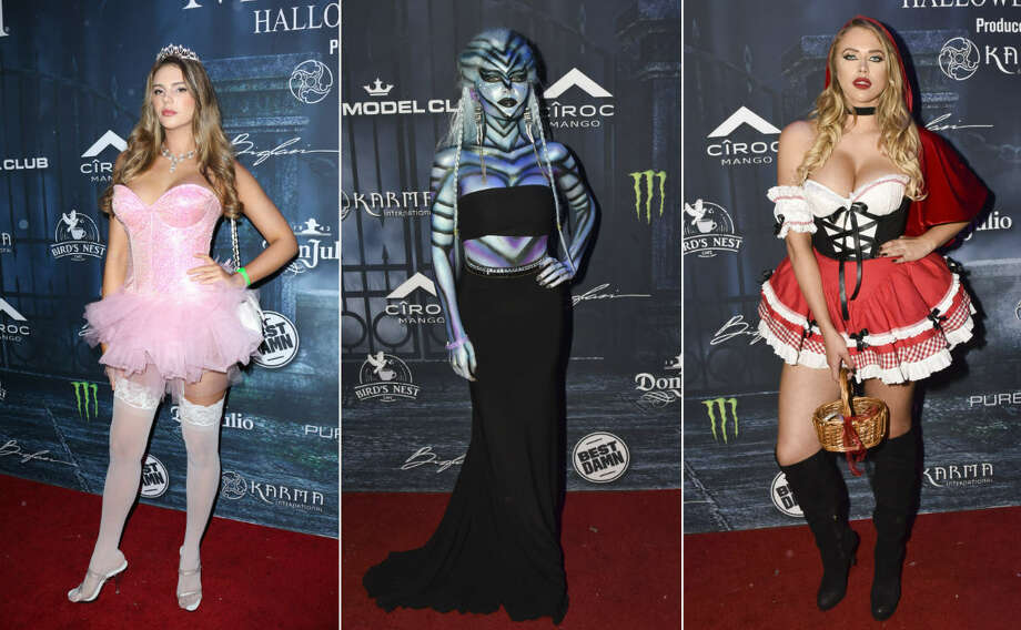 Celebrities attend the Maxim Halloween 2016 in Los Angeles. Photo: Getty Images