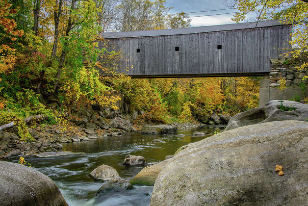Travel through one of Connecticut's covered bridges Did you know the first covered bridge in the United States was built in Connecticut in 1804 by Theodore Burr and lasted 105 years, according to the U.S. Department of Transportation? Here is a list of five covered bridges in Connecticut you can still visit. Photo: Jon Edford / Hearst Connecticut