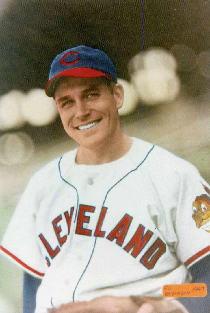 Eddie Robinson of the Cleveland Indians in 1947.