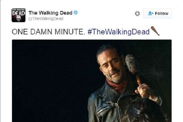 """Reactions to the season premiere of """"The Walking Dead,"""" and the reveal of who got a face full of Lucille lit Twitter up like the 4th of July."""