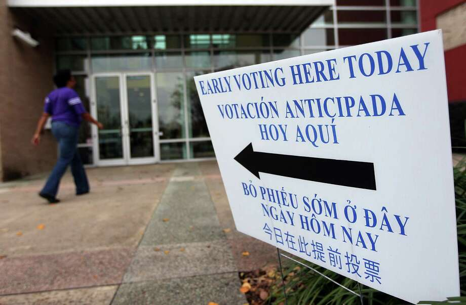 Early voting in Texas begins today  and ends Nov. 4. Photo: Mayra Beltran, Staff / © 2013 Houston Chronicle
