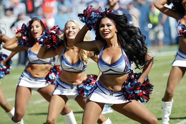 NASHVILLE, TN - OCTOBER 23: Tennessee Titans cheerleaders perform during the second quarter of the game against the Indianapolis Colts at Nissan Stadium on October 23, 2016 in Nashville, Tennessee.
