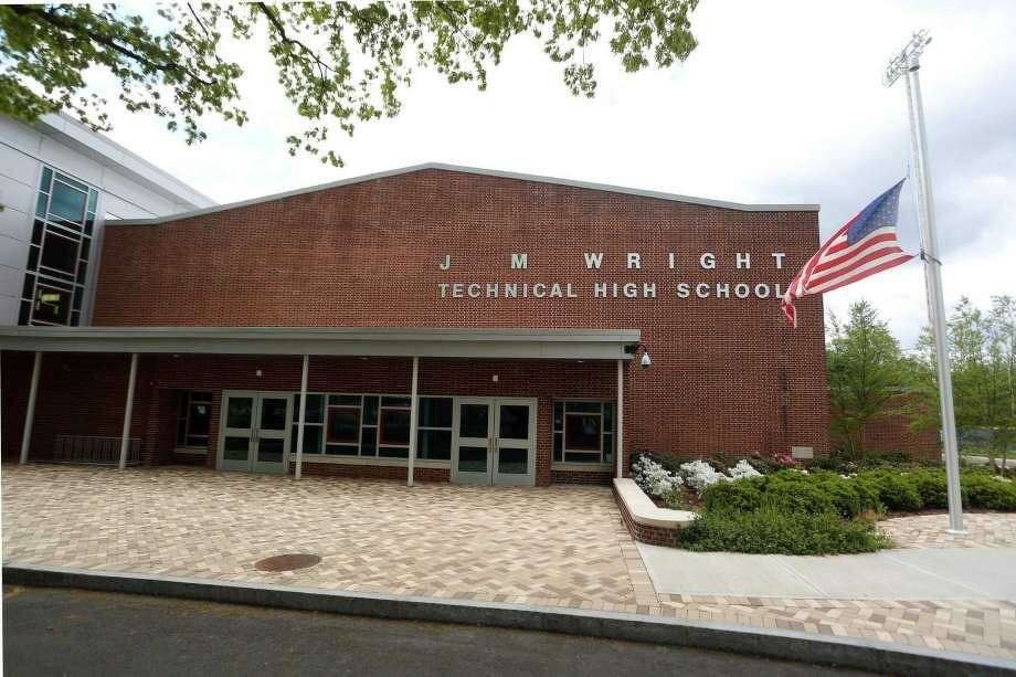"""A 15-year-old Wright Tech student died Friday after suffering from a """"medical condition"""" at the school. Photo: Michael Cummo / Hearst Connecticut Media"""